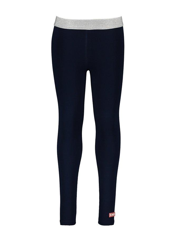 Girls plain legging - space blue