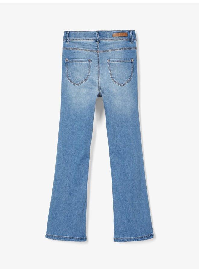 NKFPOLLY DNMTRILLAS 2460 HW BO PANT NOOS - Medium Blue Denim