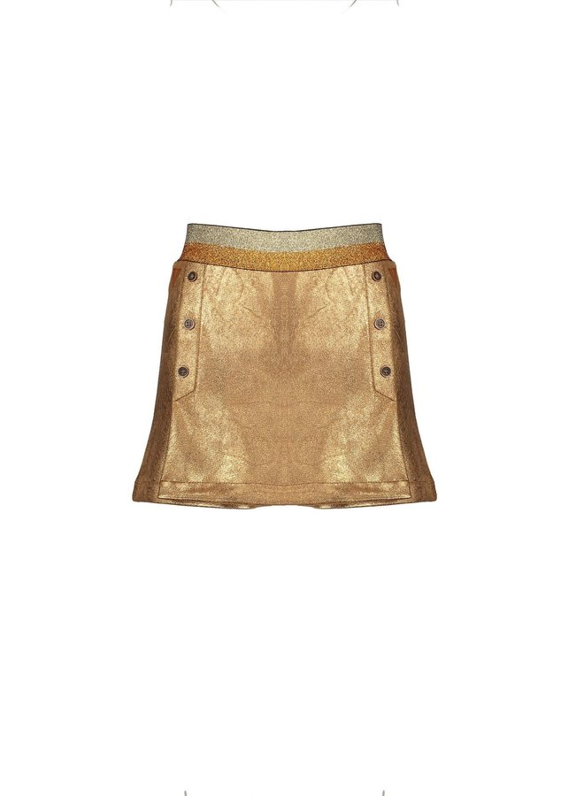 Nadine suede skirt/short with elastic band - Cinnamon