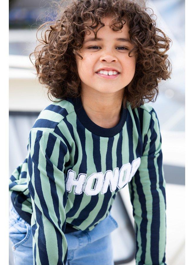 Boys sweater with zebra stripe - Hunter Zebra