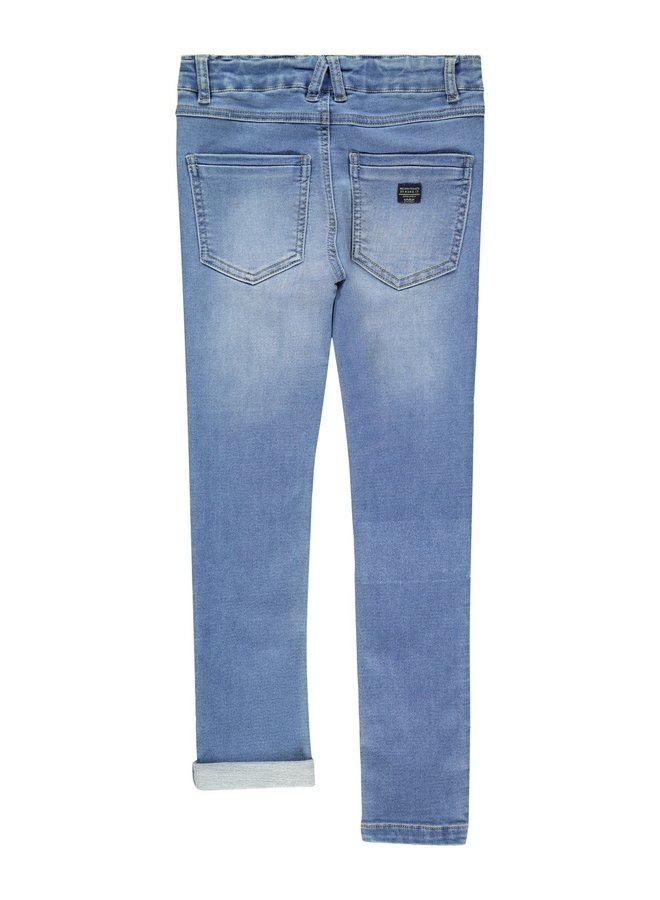 NKMPETE DNMTOBOS 2451 SWE PANT NOOS - Medium Blue Denim
