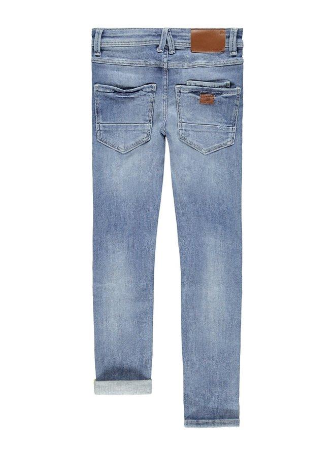 NKMPETE DNMTARTYS 1453 PANT BET NOOS - Light Blue Denim
