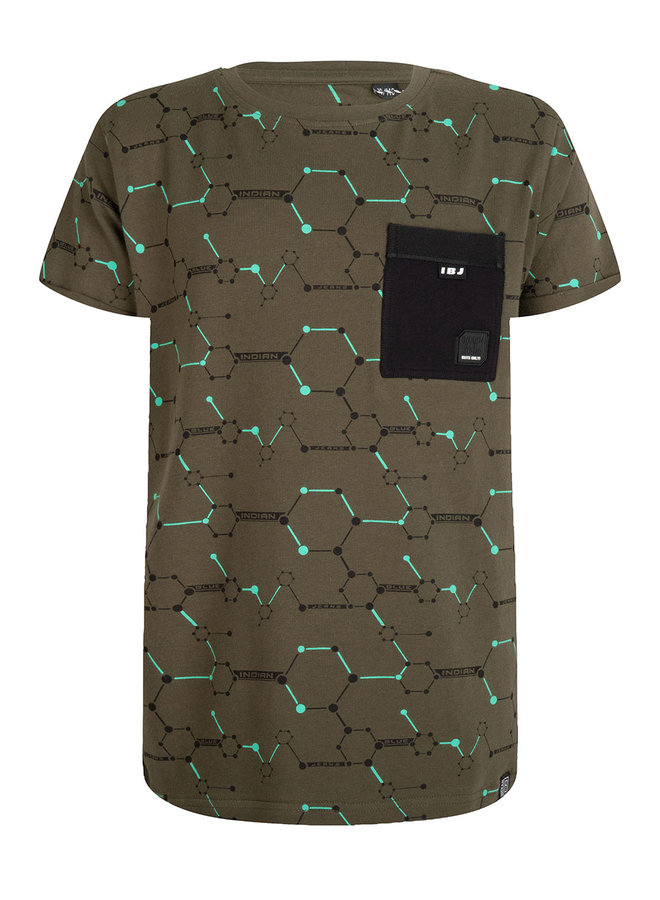 T-SHIRT SS GRAPHIC PKT - Army