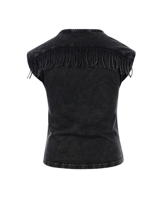 10Sixteen Acid wash T-shirt - ACID BLACK