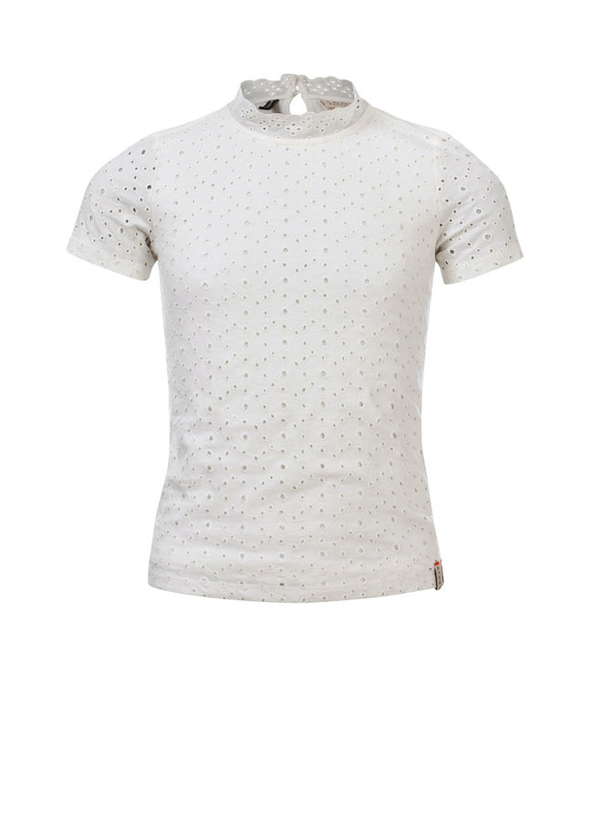 10Sixteen Crinkle lace top - WHITE LILLY