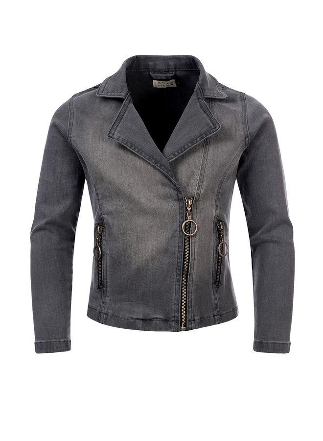 10Sixteen biker jacket soft grey - SOFT GREY