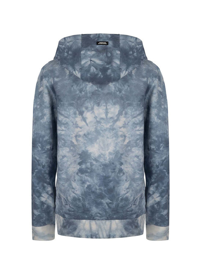 HOODED TIE DYE - Washed Blue