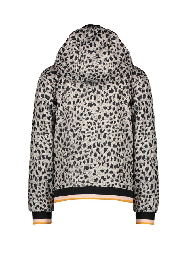 Billy hooded summer jacket in Hibiscus Flower AOP and in AOP Animal - Antracite