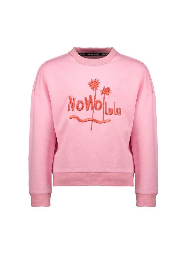 Kessa drop shoulder long sleeve with NONOLULU/ Simply artwork - Loving Pink