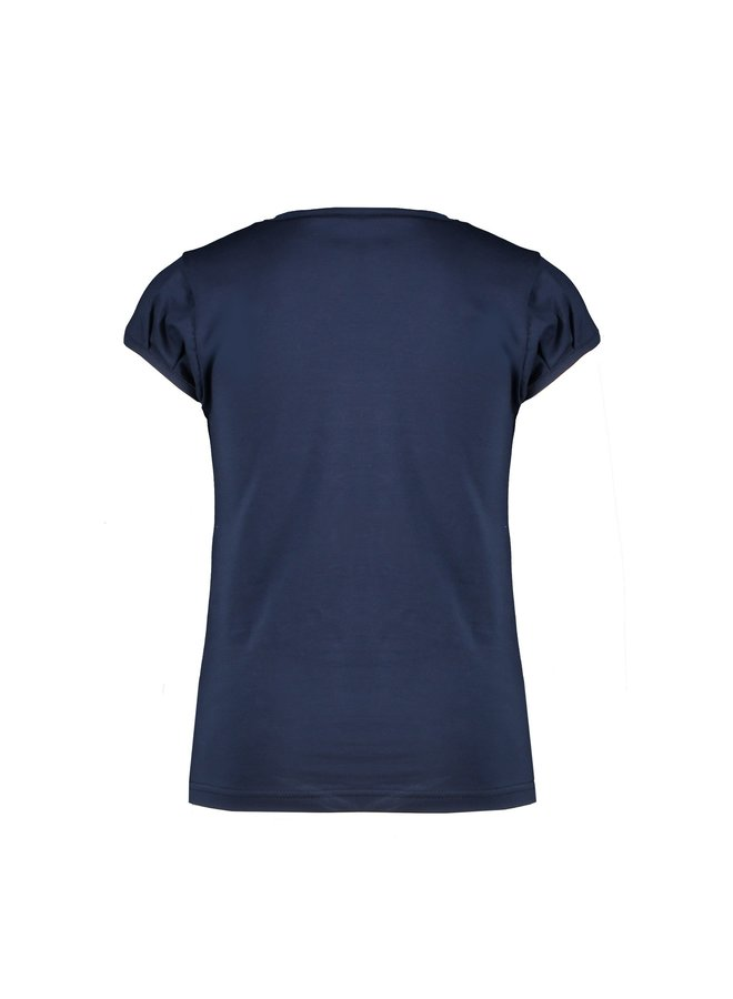 KamsiA ss T-Shirt Explorer Embroidery - Navy Blazer