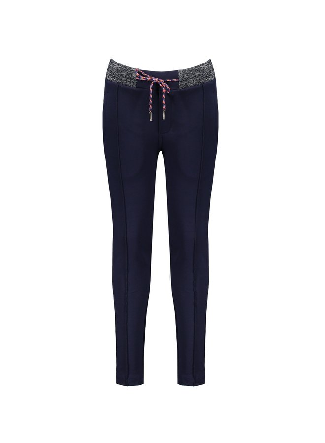 Secler solid pants with pintucks at CF+fancy surfers cord - Navy Blazer
