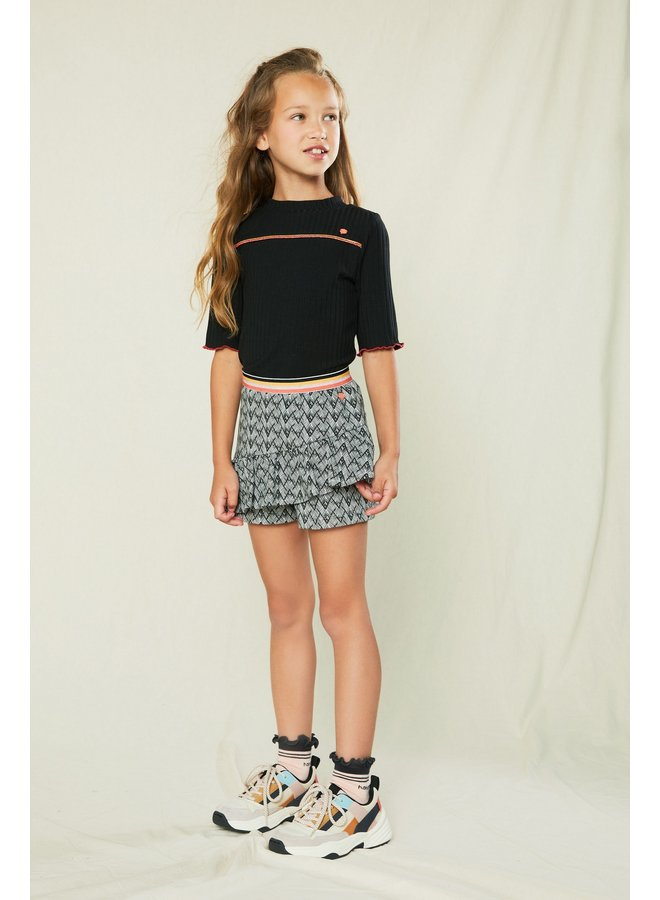Suby short with frilled skirt at front - Antracite