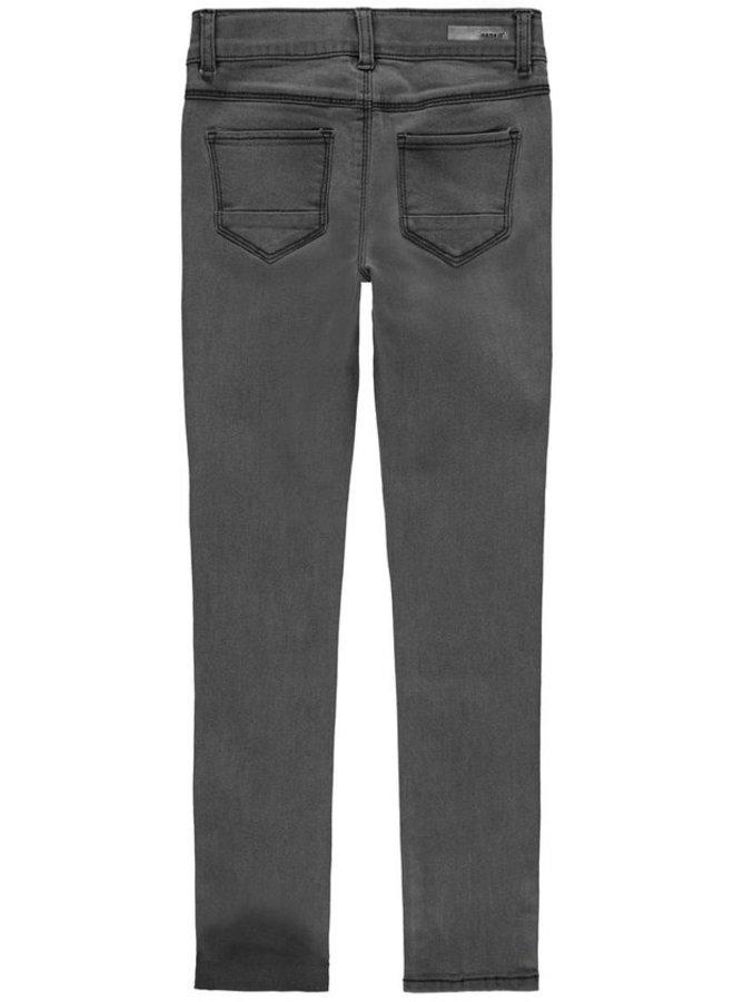 NKFPOLLY DNMCECE 6399 PANT NOOS - Dark Grey Denim