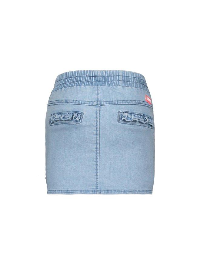 Girls denim skirt with button detail at front pockets - Curious denim