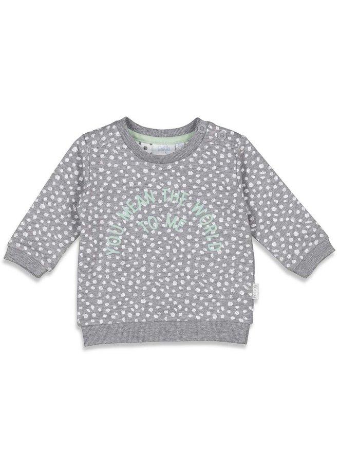 Sweater AOP - Animal Friends - Grijs melange