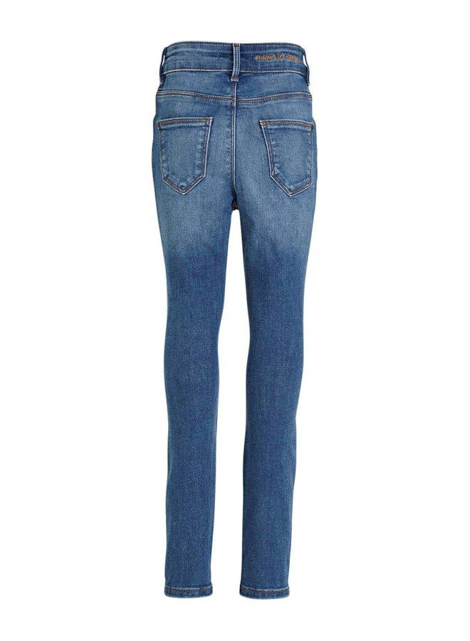 NKFPOLLY DNMTIN 2350 HW A PANT BET NOOS - Medium Blue Denim