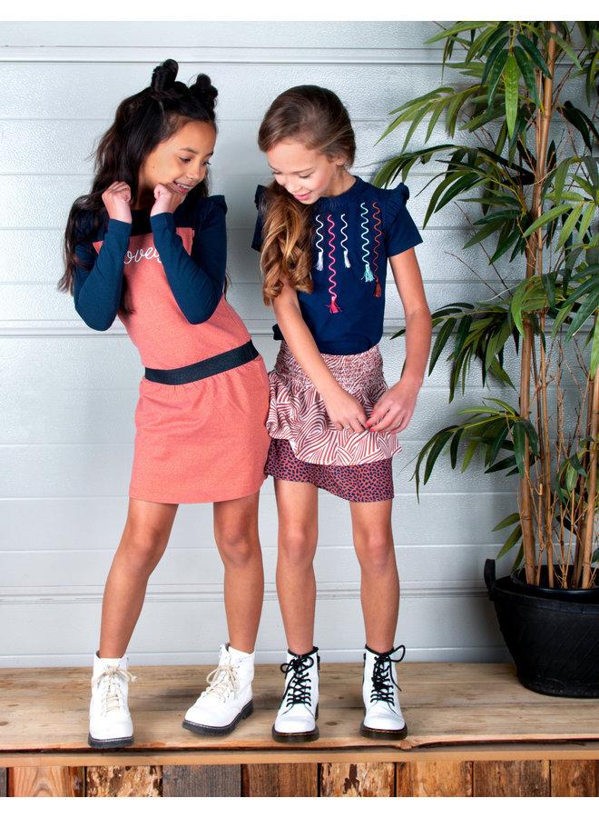 Girls 2-layer mix zebra/mix dots aop skirt - Mix Zebra