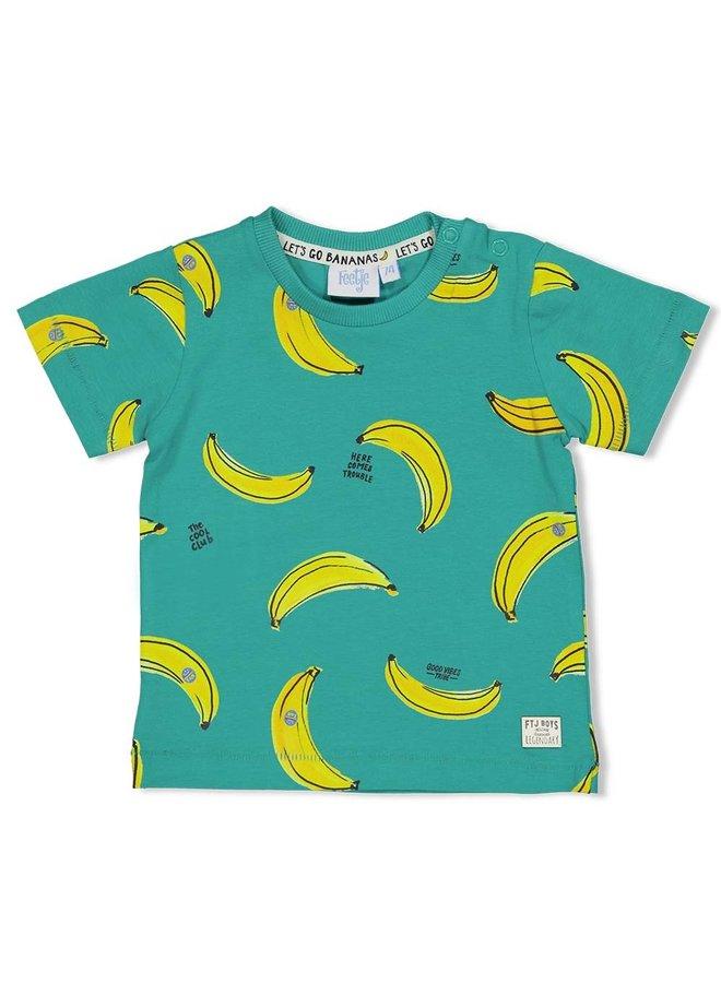 T-shirt AOP - Playground - Groen
