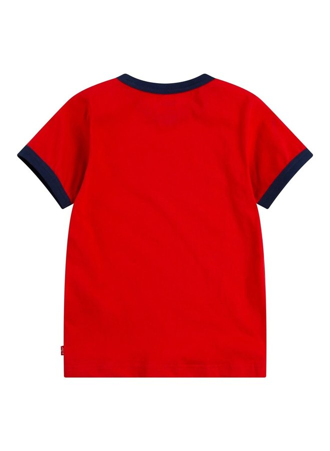 S/S KNIT TOP - SUPER RED
