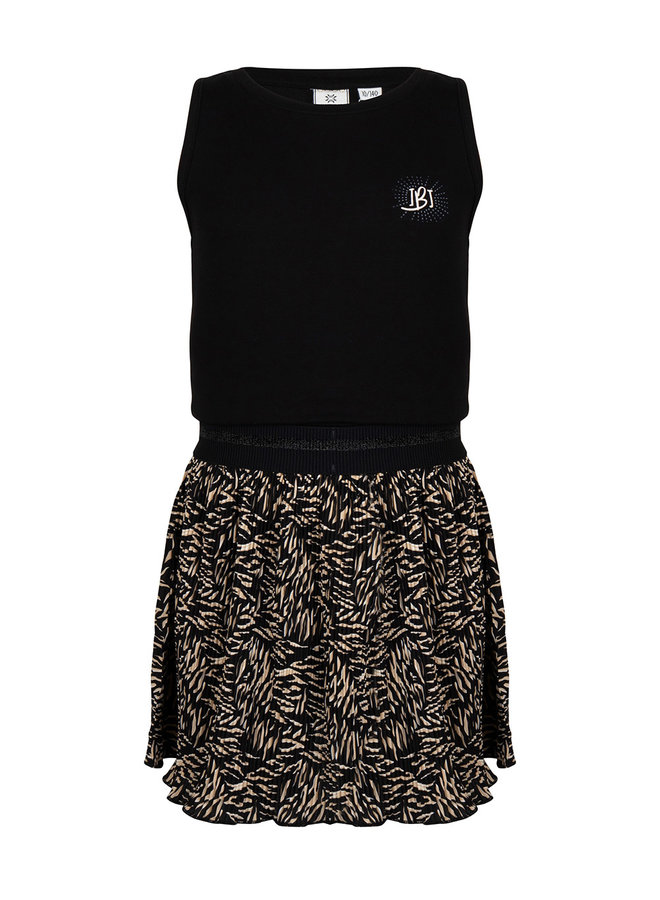 DRESS SS CONTRAST - Black