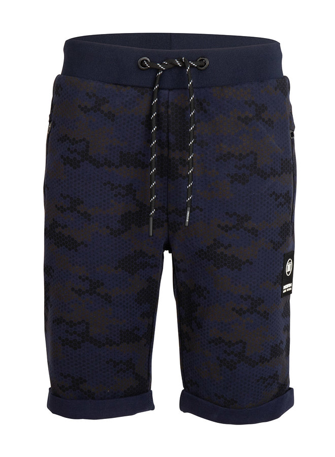 JOG SHORT FANCY CAMOU - Navy Blue