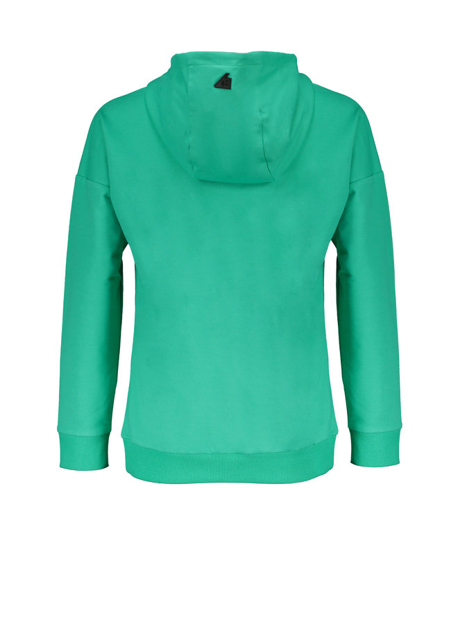 Keep fancy hooded sweat - Sea Green