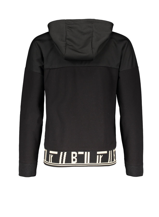 Aikos hooded sweater - Caviar