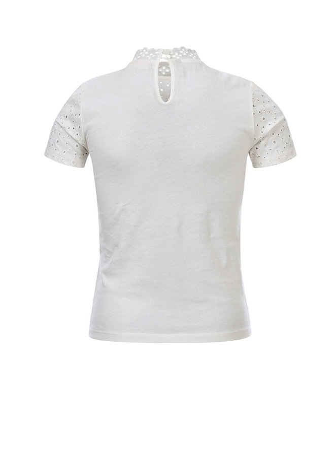 10Sixteen Crinkle lace top - White lily