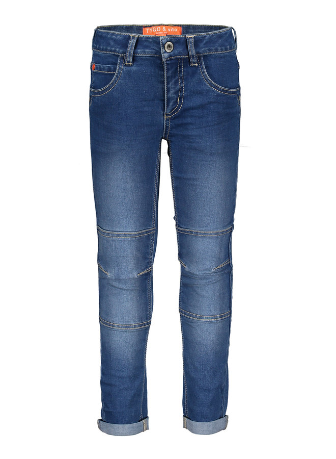 T&V skinny stretch jeans kneepatches - m.used