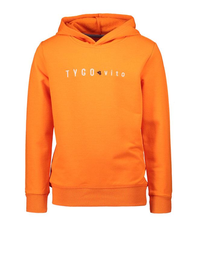 T&V hoody TYGO & vito embro - shocking orange