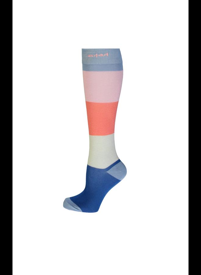 Rae long sock colorblock - Bright Sky