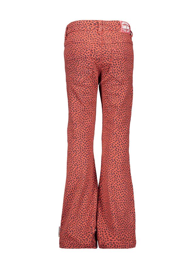 Girls aop mix dots flaired denim pants - Mix Dots