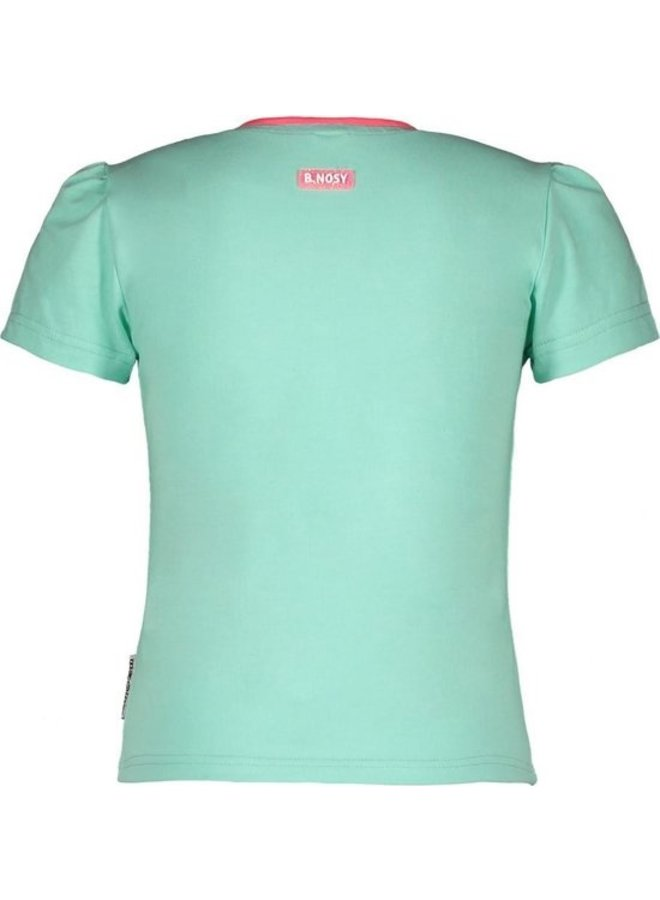 Girls straight t-shirt with chest artwork - Ice Green