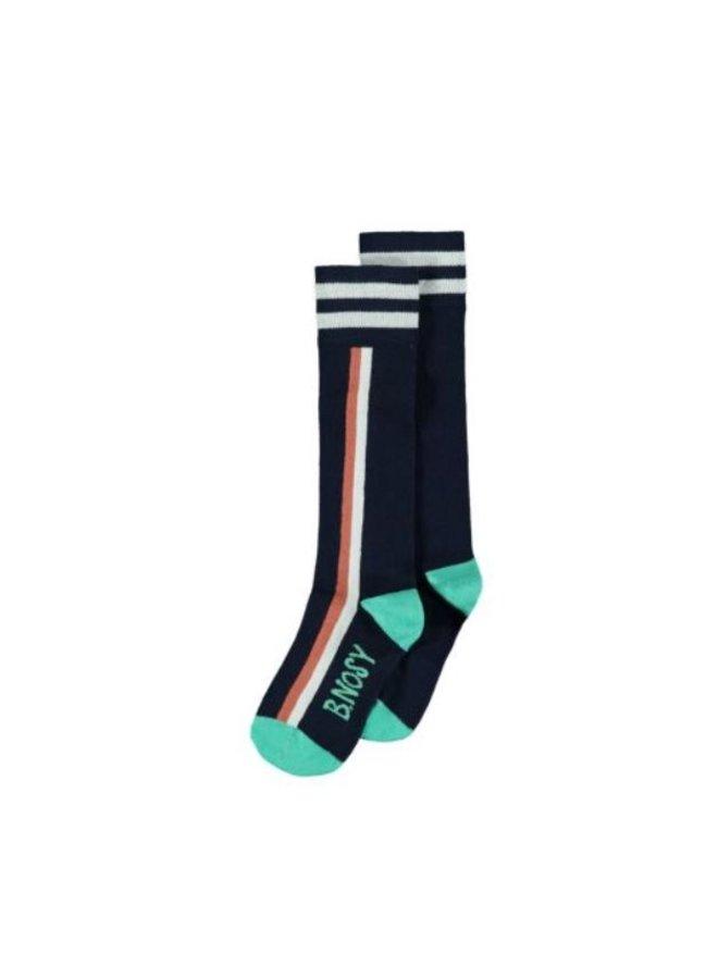 Girls B. a dreamer socks with vertical stripe - space blue