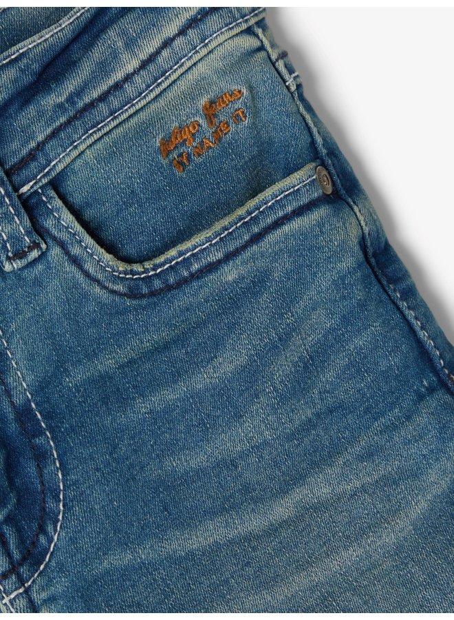 NKMTHEO DNMTOMO 2309  LONG SHORTS  NOOS - Medium Blue Denim