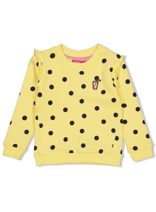 Sweater AOP - Tutti Frutti - Geel