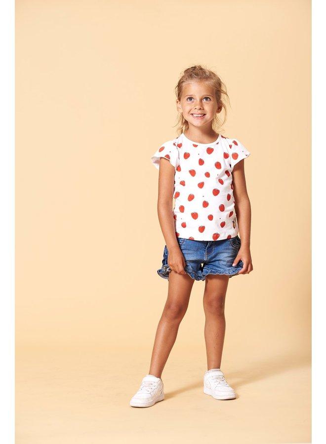T-shirt AOP - Tutti Frutti - Wit