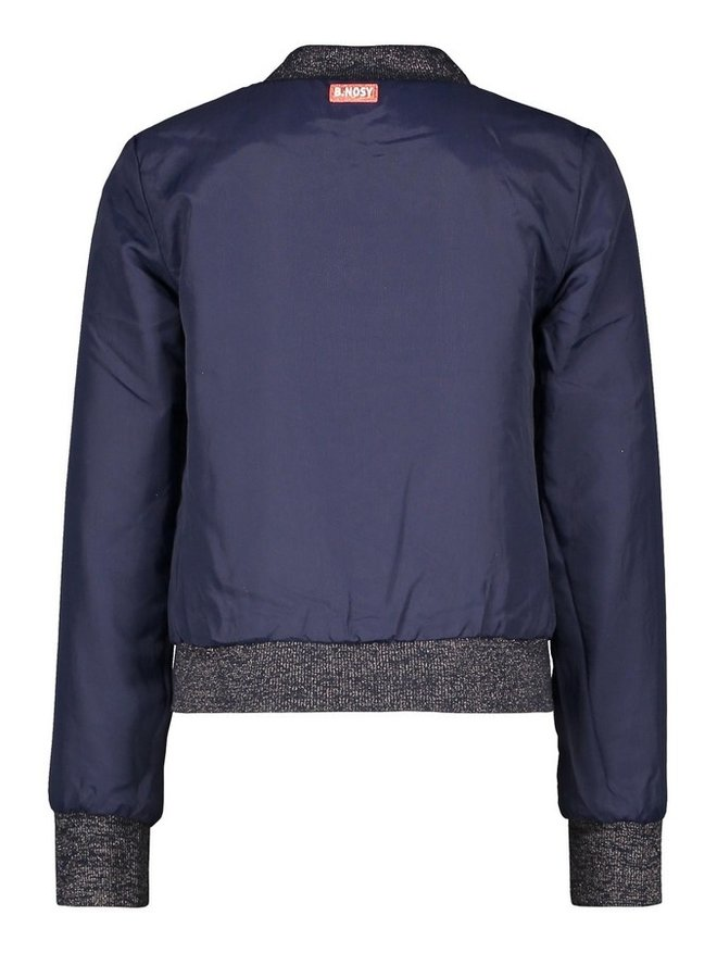 Girls reversible jacket with v-shaped chest detail - Pewter