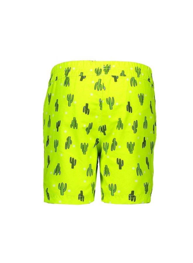 Boys cactus aop swim shorts - Safety yellow