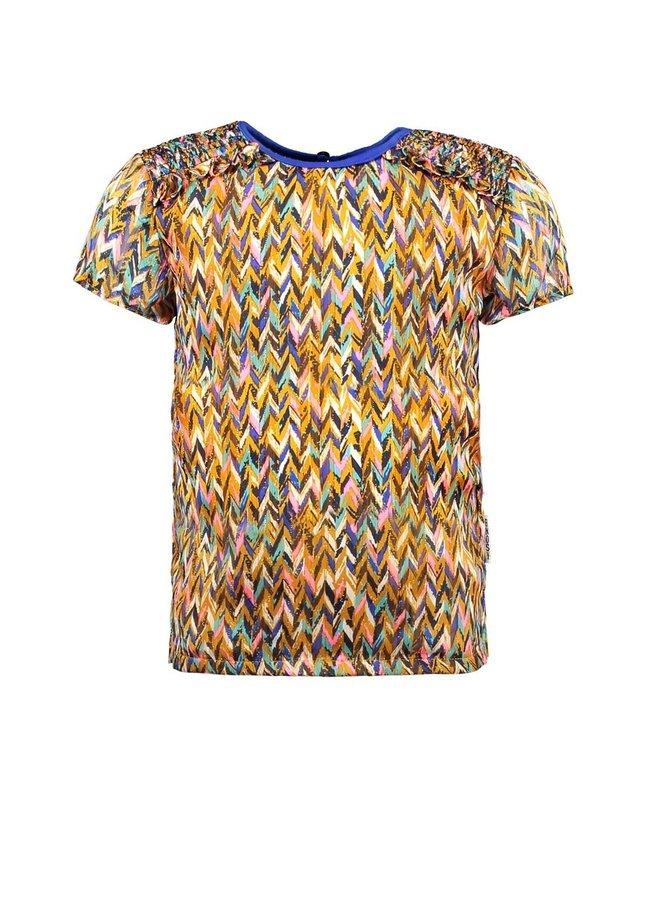 Girls curious aop woven blouse - Curious ao