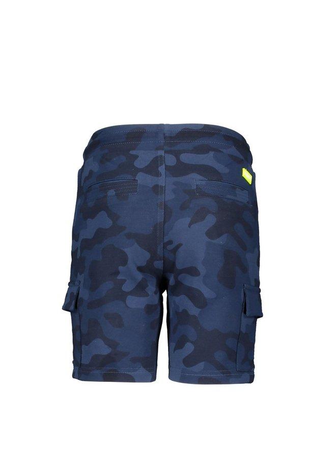 Boys aop camo sweat shorts - Space blue camo