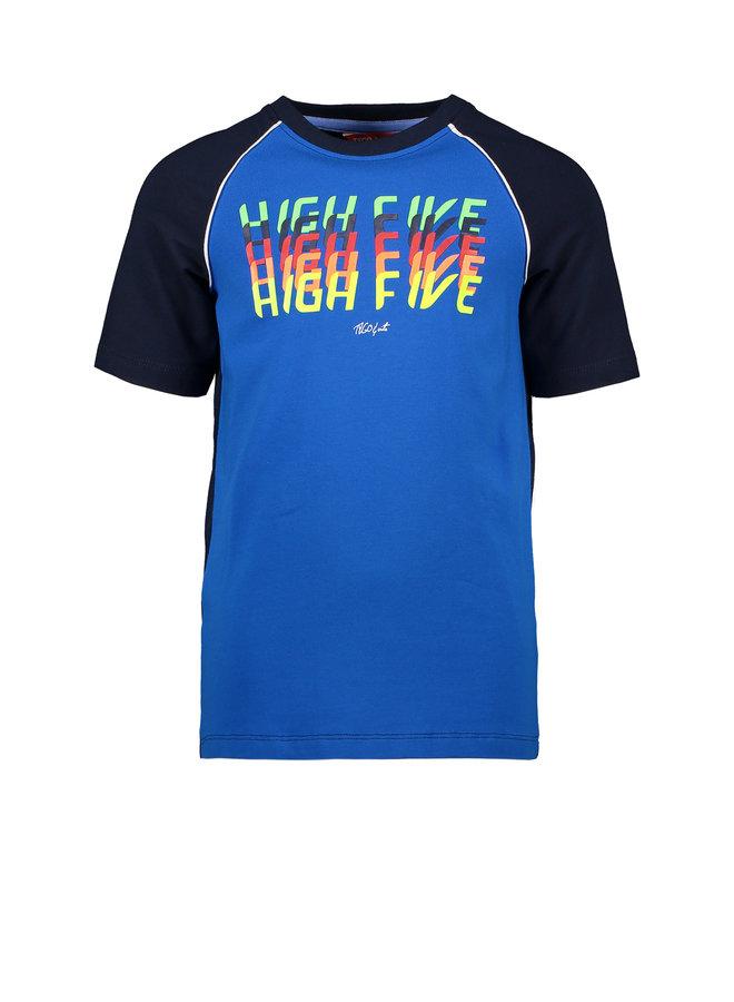 T&V raglan T-shirt HIGH FIVE - navy