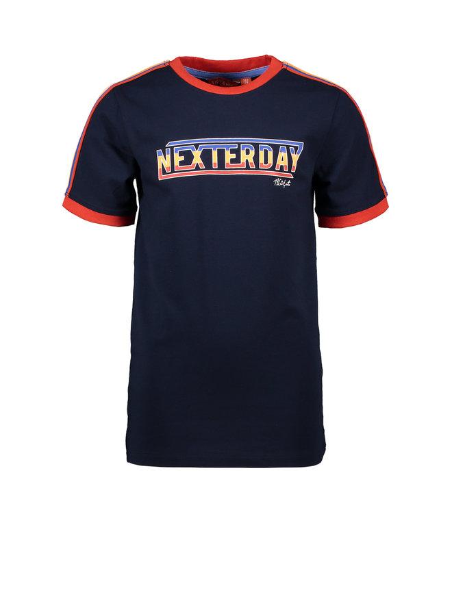 T&V T-shirt stripe tape NEXTERDAY - navy