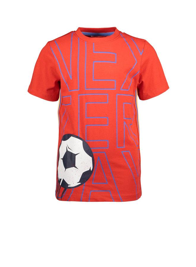 T&V T-shirt NEXTERDAY FOOTBALL - red