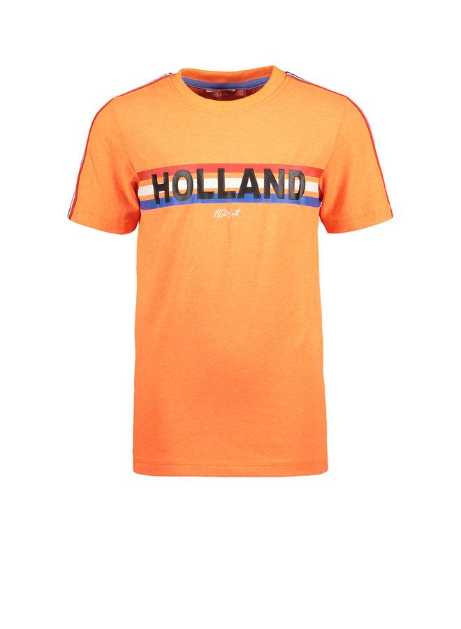 T&V neon T-shirt HOLLAND - shocking orange