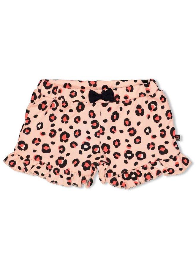 Short AOP - Leopard Love - Roze