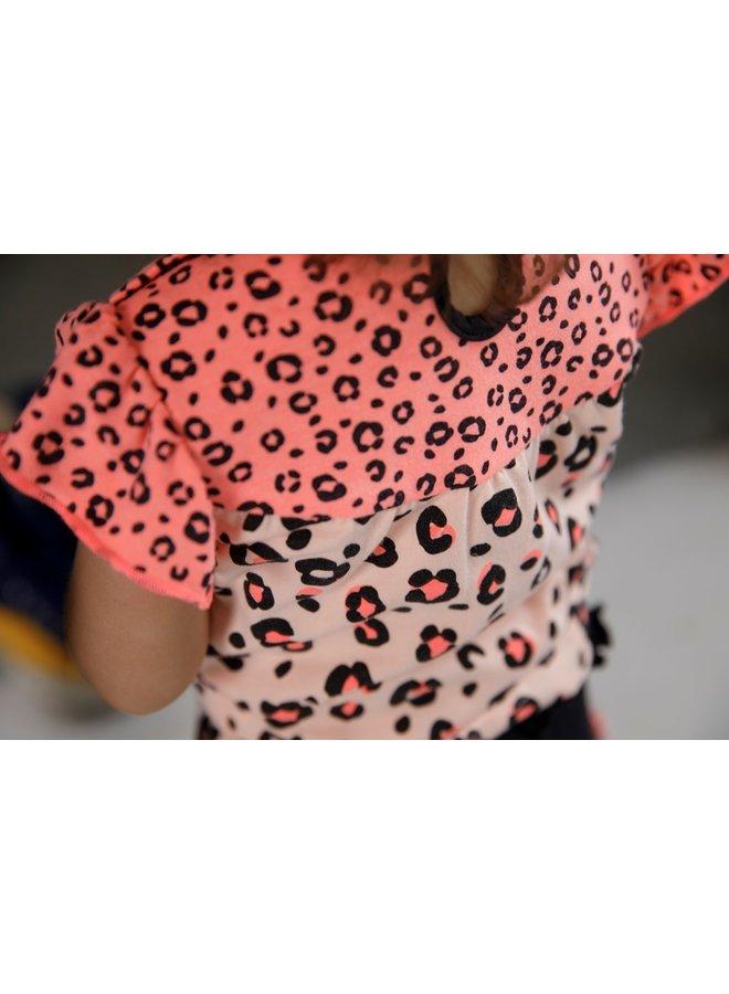 Singlet - Leopard Love - Roze