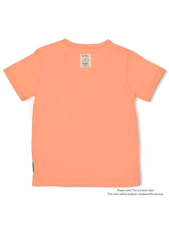 T-shirt - Snacktime - Neon Oranje
