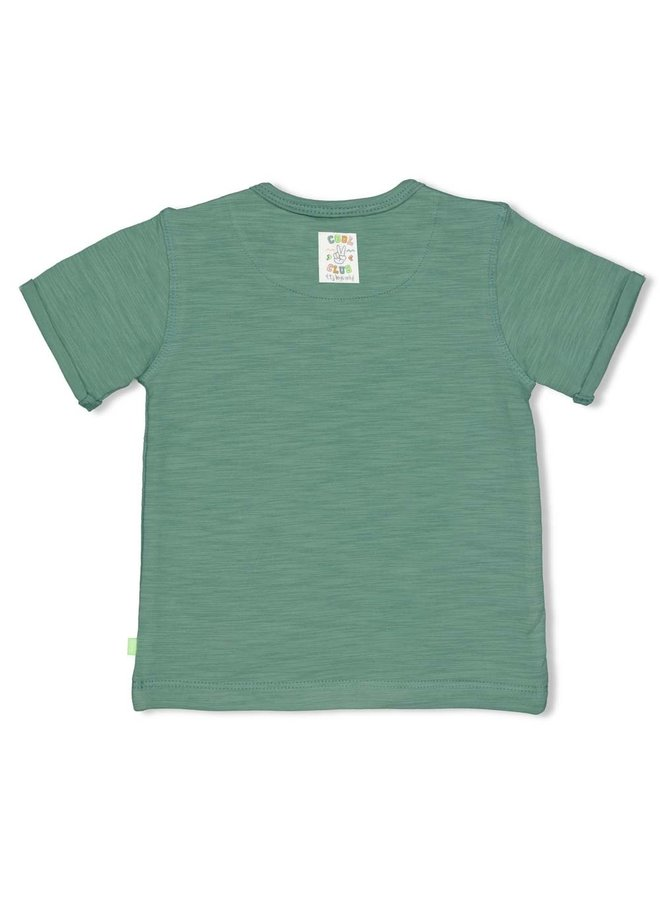 T-shirt Weekend Plans - Snacktime - Groen