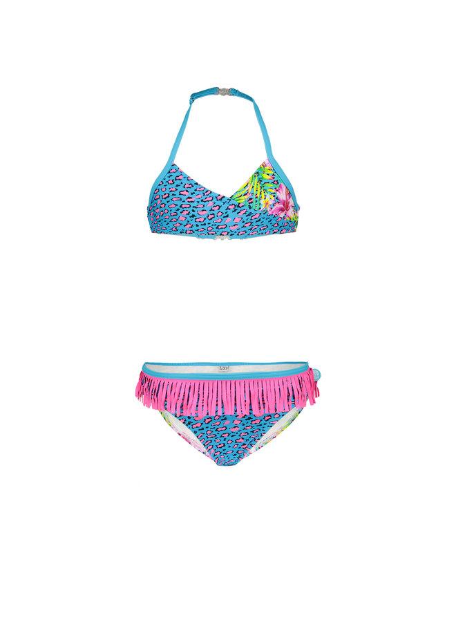 Girls wrap bikini with ao - Tropical